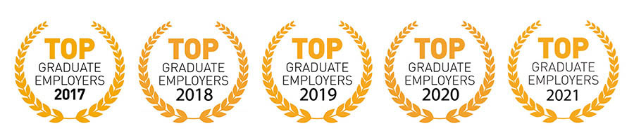 Voted as one of the Top Graduate Employers in Australia for 2017, 2018 and 2019.
