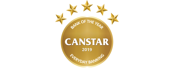 Canstar's Bank of the Year – Everyday Banking award 2019 logo​